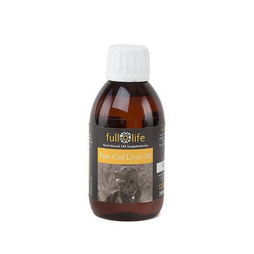 Fullolife óleo puro de fígado de bacalhau para cães