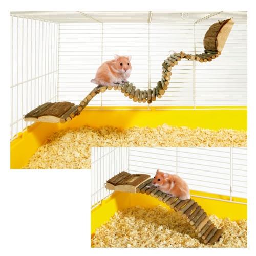 Escada flexible de madeira para roedores