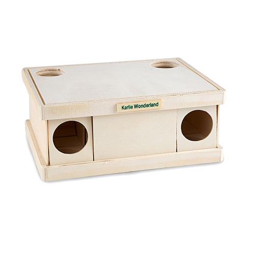 Labirinto desmontável de madeira para hamsters