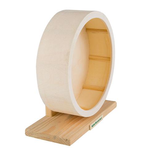 Roda de exercício de madeira para roedores