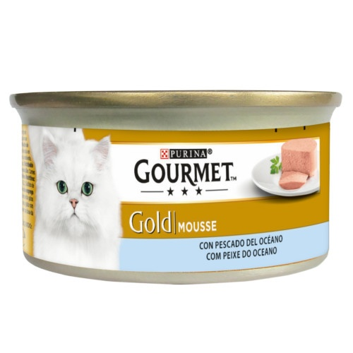 Gourmet mousse Peixes do oceano para gatos