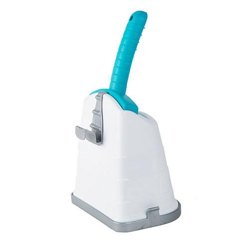 Pá para recolher excrementos com suporte para bandeja sanitária