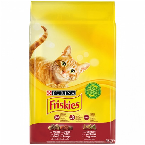 Friskies gato adulto com Boy, Fígado e vegetais