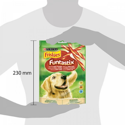 Friskies Funtastix barritas sabor queijo e bacon para cães