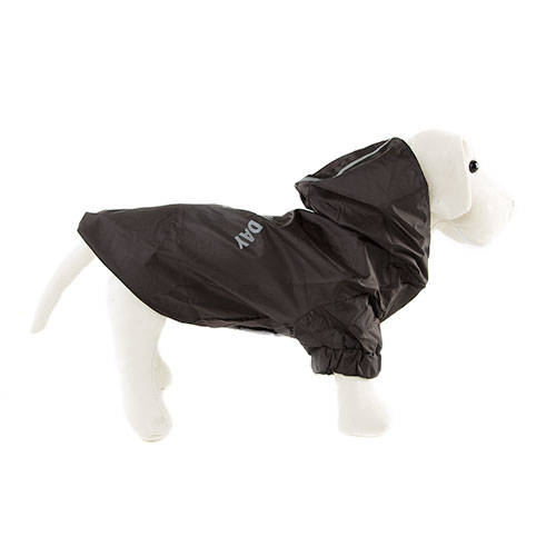 Impermeável preto para cães Enjoy the rain