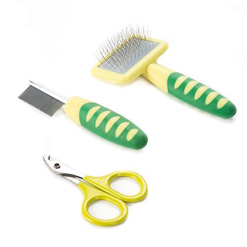 Set de cuidados e de cabeleireiro para roedores