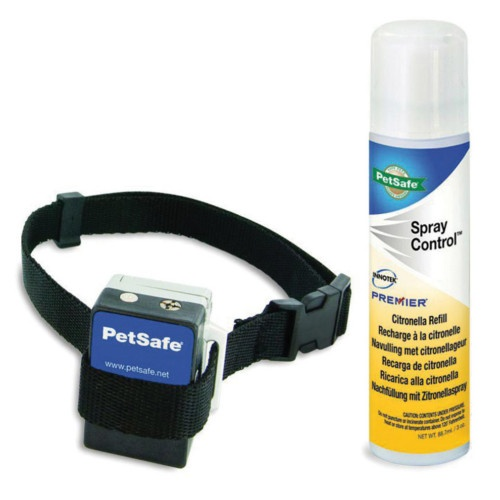 Coleira antilatidos Petsafe mais spray neutro de recarga